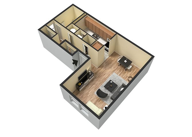 Studio Floor Plan 1