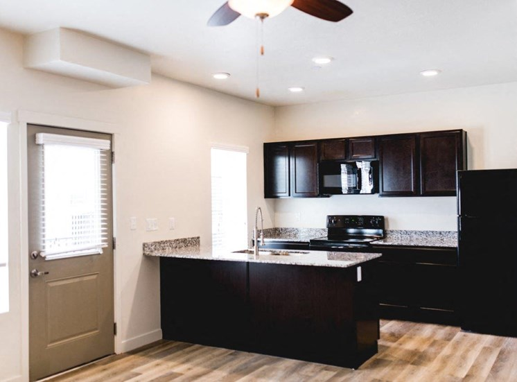 Unfurnished interior kitchen model