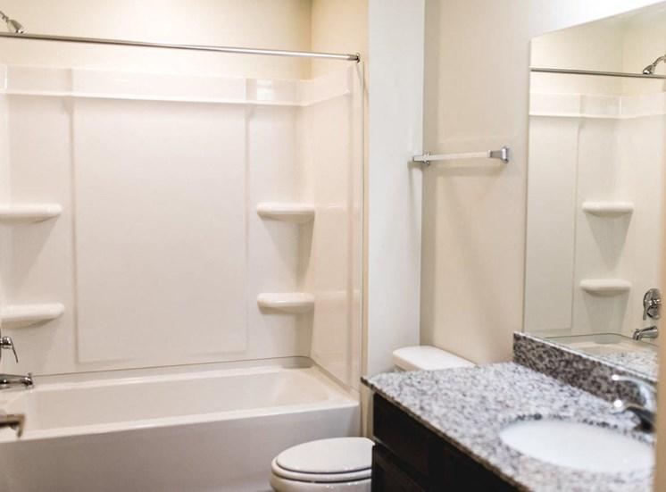 Unfurnished bathroom model