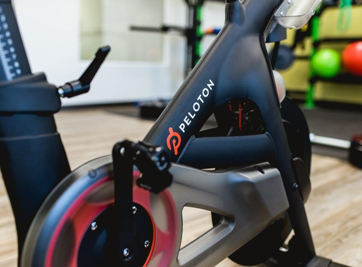 Fitness center with peloton bike