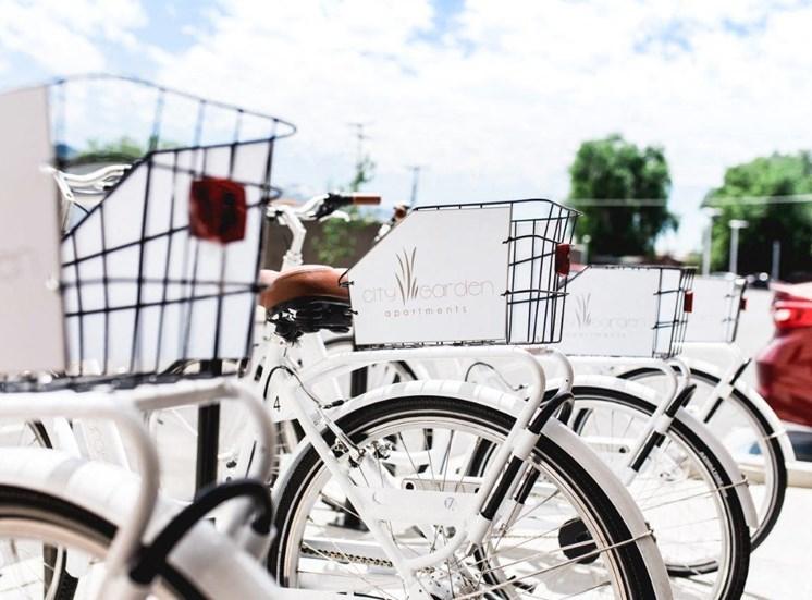 City Garden bikeshare rental bikes