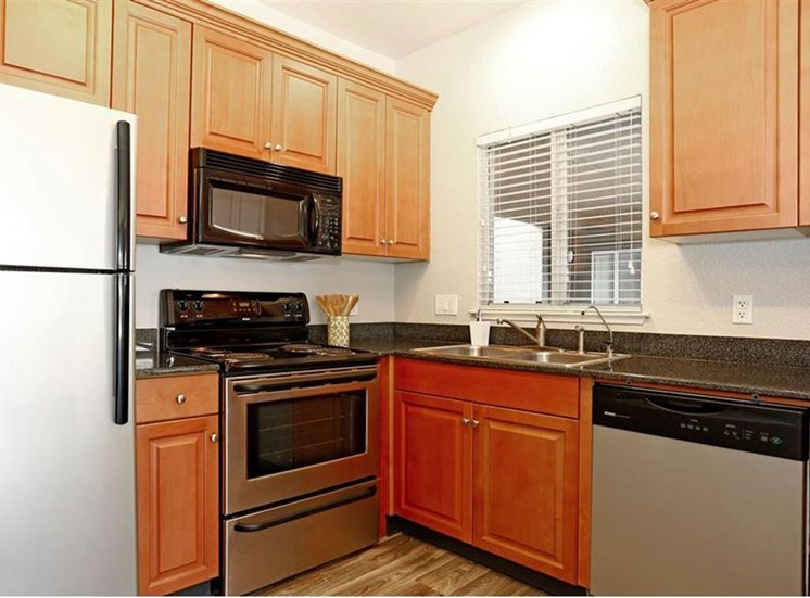 Kitchen at Somerfield at Lakeside Apartments in Elk Grove CA