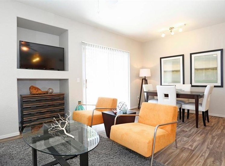 Living room at Somerfield at Lakeside Apartments in Elk Grove CA