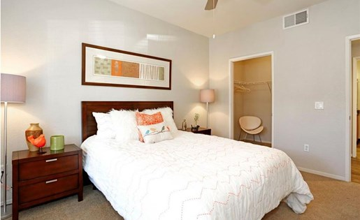 Master suite at Somerfield at Lakeside Apartments in Elk Grove CA