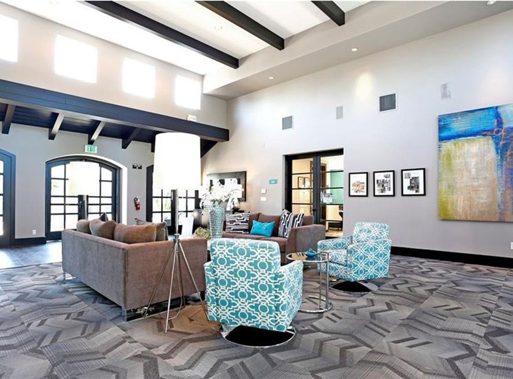 Resident lounge at Somerfield at Lakeside Apartments in Elk Grove CA