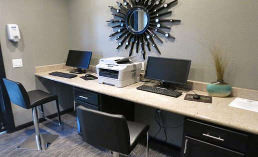 Business center at Somerfield at Lakeside Apartments in Elk Grove CA
