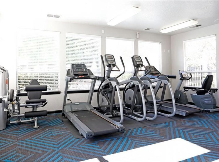 Fitness center cardio machines at Somerfield at Lakeside Apartments in Elk Grove CA