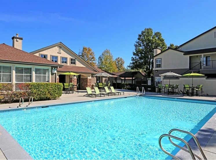 Pool at Somerfield at Lakeside Apartments in Elk Grove CA