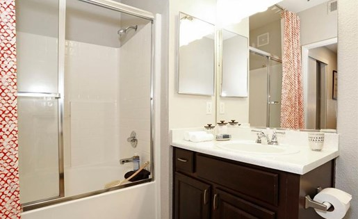 Bathroom at Somerfield at Lakeside Apartments in Elk Grove CA