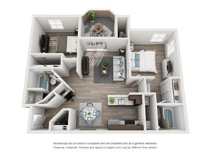 TuscanyRidge_Peoria_AZ_La Fendere_FloorPlan_2Bedroom_2Bathroom