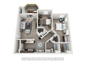 TuscanyRidge_Peoria_AZ_La Lusso_FloorPlan_2Bedroom_2Bathroom