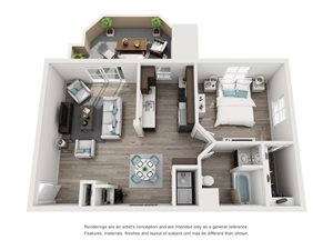 TuscanyRidge_Peoria_AZ_La Ricco_FloorPlan_1Bedroom_1Bathroom