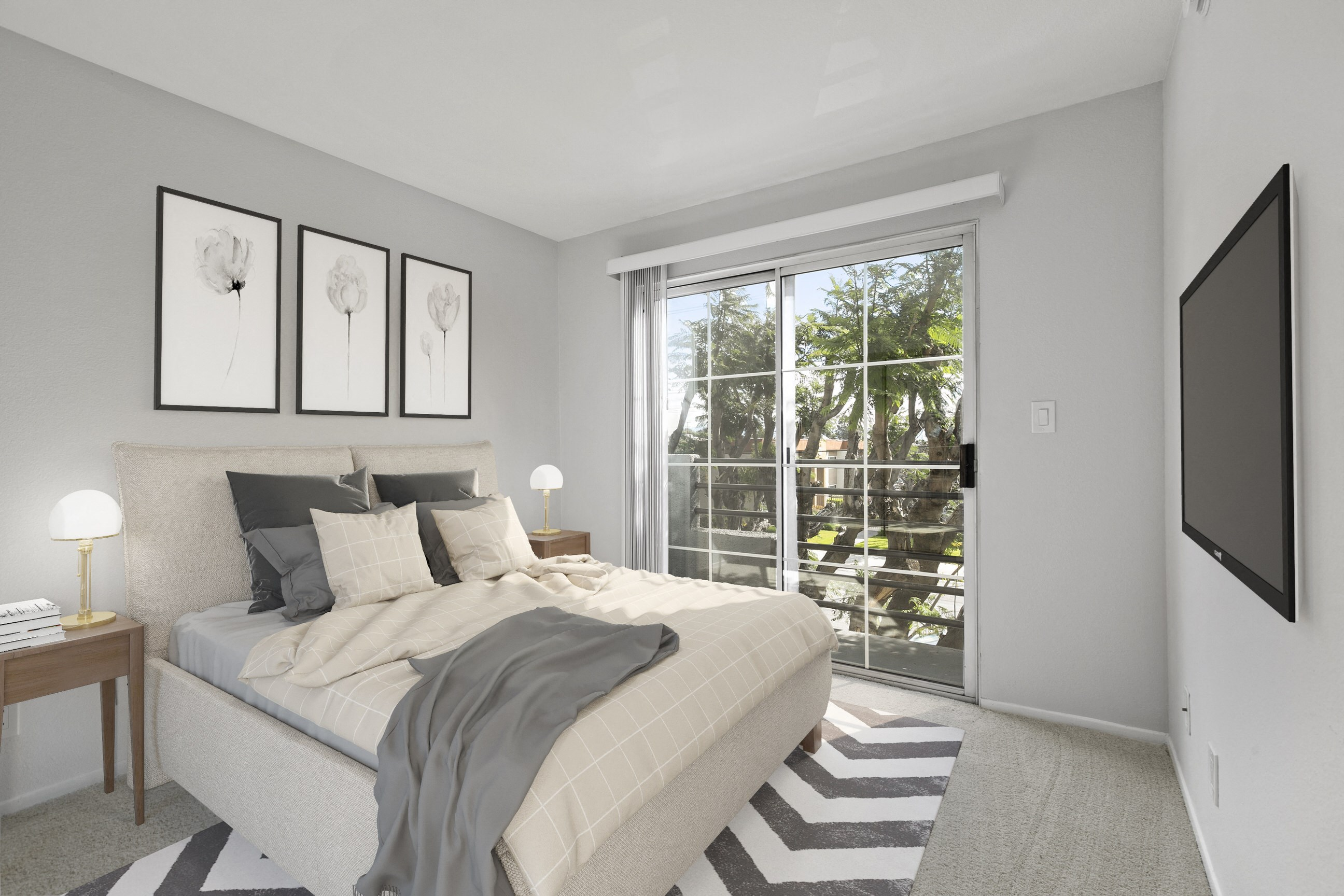 Bedroom at NoVa Townhomes 8761 De Soto Ave, Canoga Park, CA 91304