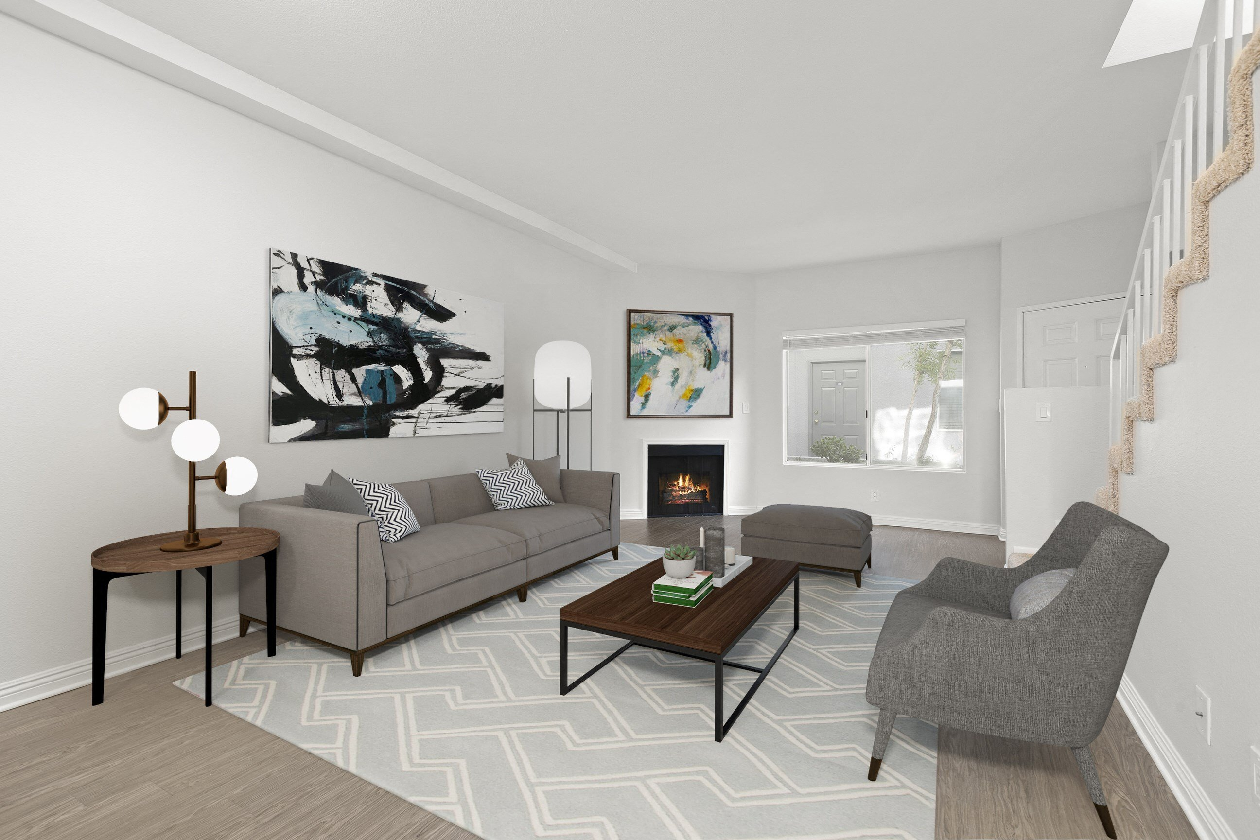 Living Area at NoVa Townhomes 8761 De Soto Ave, Canoga Park, CA 91304