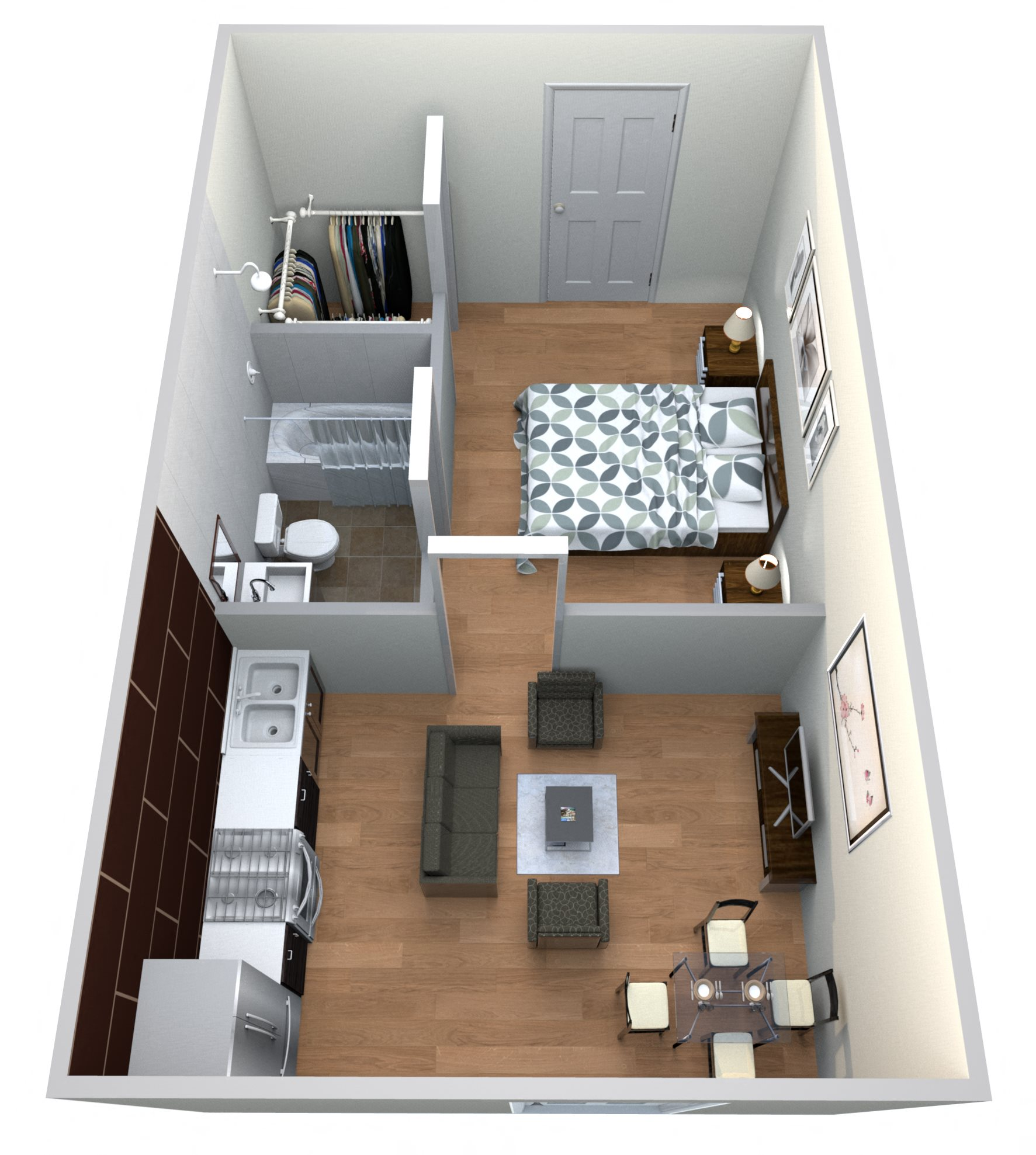 #9 Drive ups 1 Bedroom w/ 1 Bath Floor Plan 11