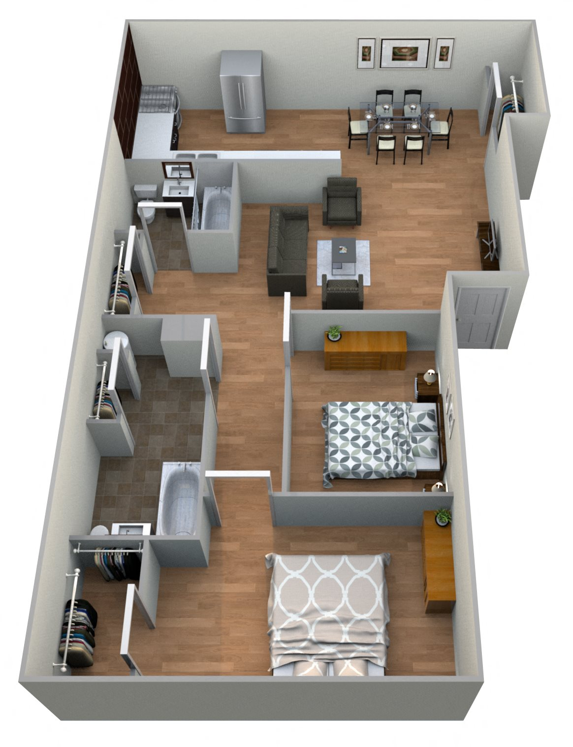 #8 Horseshoes 2 Bedroom w/ 2 Baths Floor Plan 15