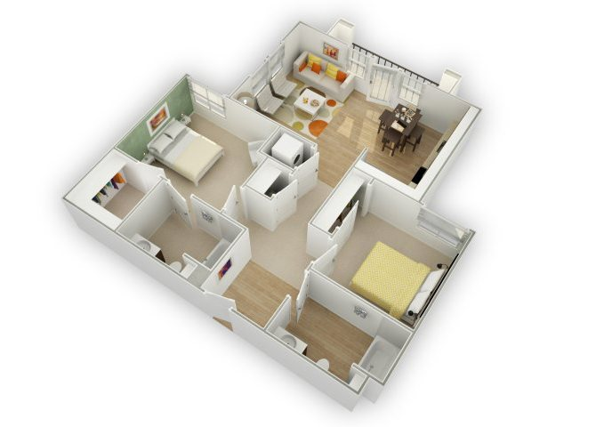 Chic C1 floor plan.