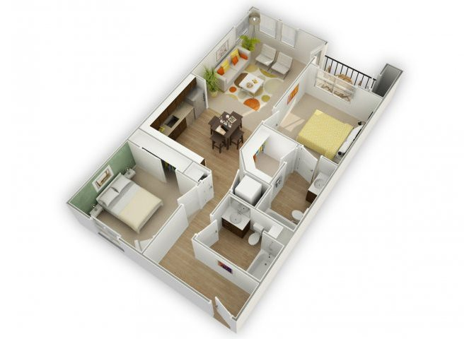 Chic C2 floor plan.