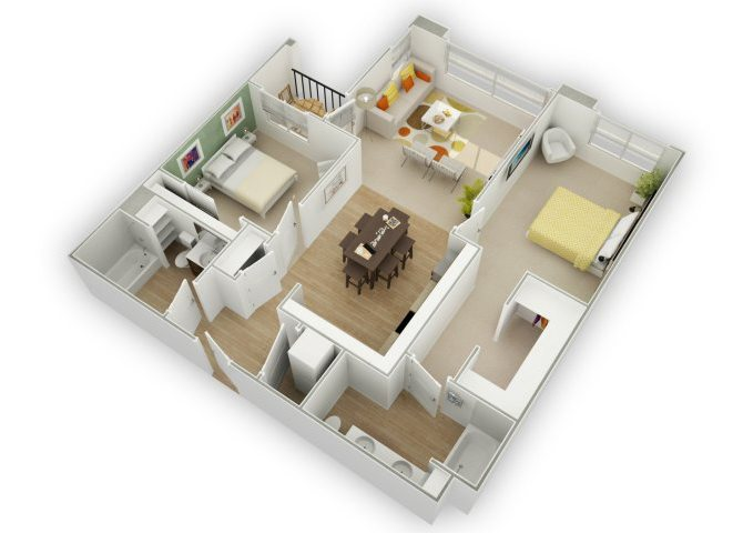 Chic C3 floor plan.