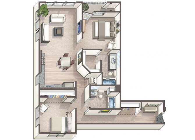 Chic C4 floor plan.