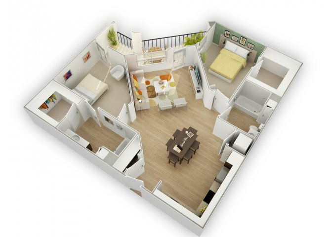 Chic C5 floor plan.