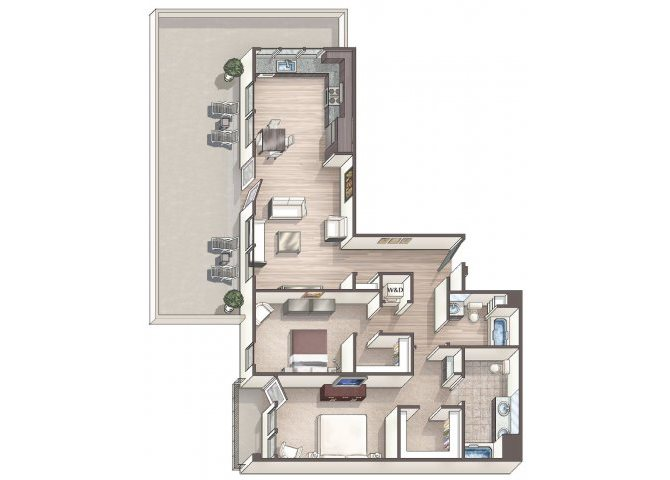 Chic C6 floor plan.