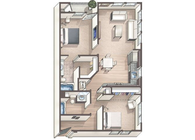 Chic C8 floor plan.