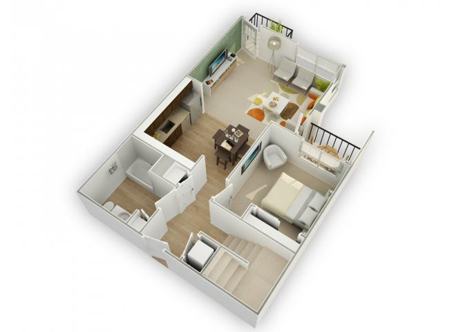 Chic D1 floor plan.