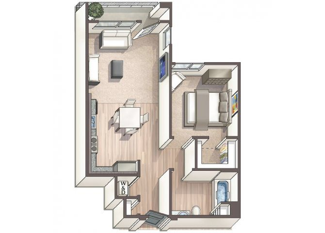 Savvy A2 floor plan.
