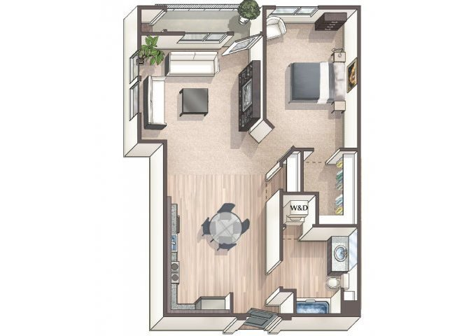 Savvy A6 floor plan.