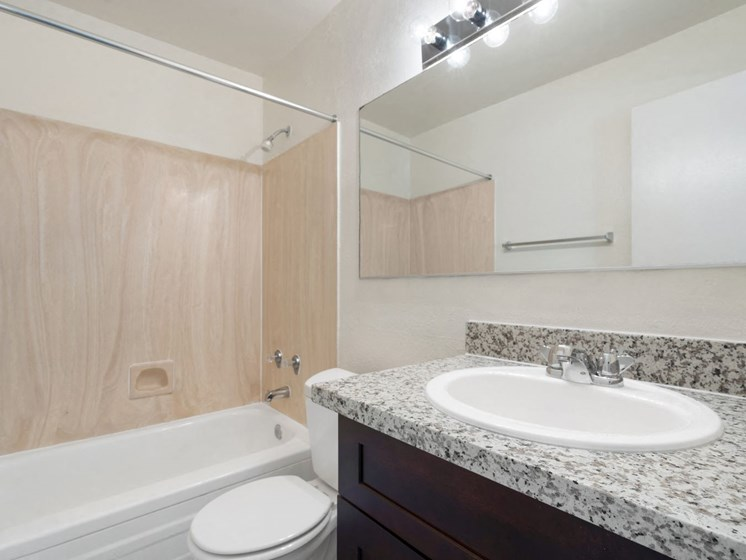Bathroom & Bathroom Vanity at Woodridge Apartments in Tucson, AZ