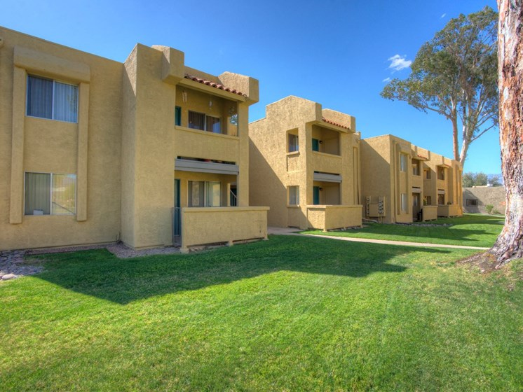 Exterior & Landscaping at Woodridge Apartments in Tucson, AZ