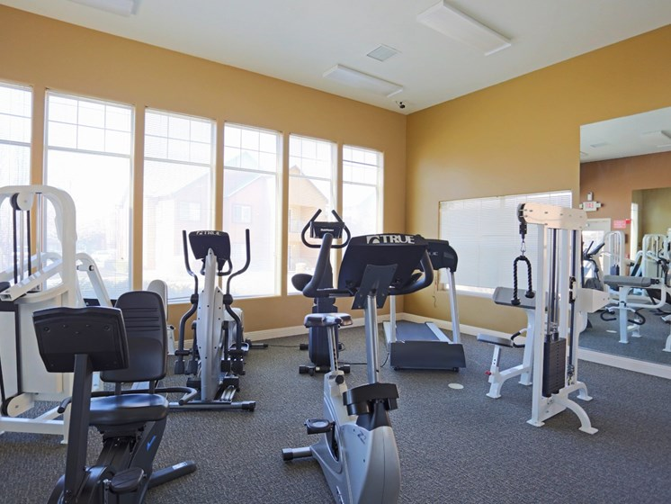 Community Fitness Room at Mirabella Heights in Albuquerque, NM