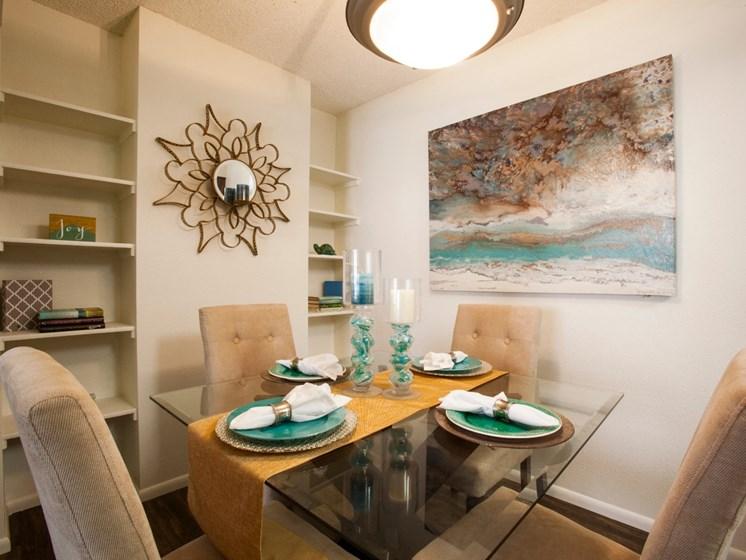 Dining Area at Saguaro Villas Apartments in Tucson, AZ