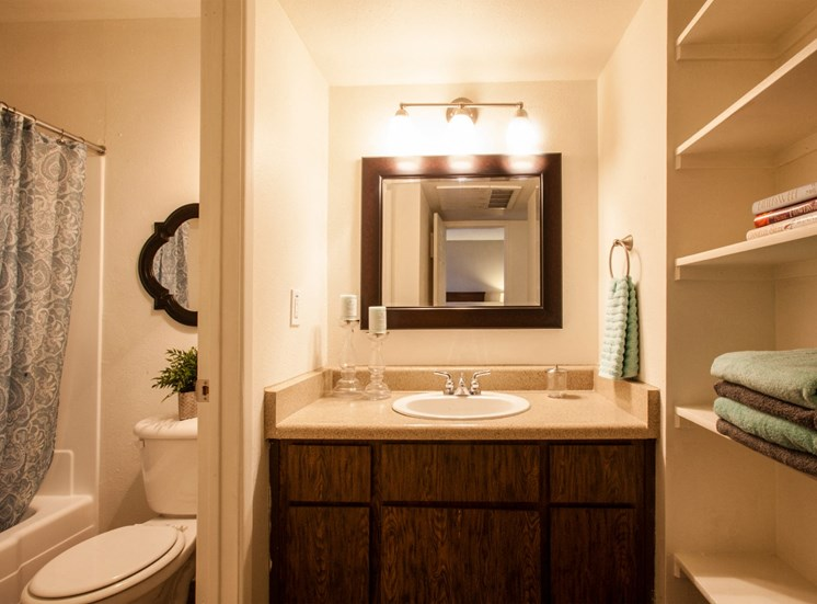 Bathroom at Saguaro Villas Apartments in Tucson, AZ