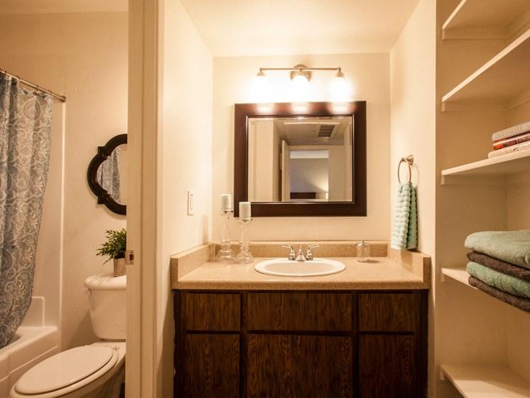 Bathroom at Saguaro Villas Apartments in Tucson, AZ