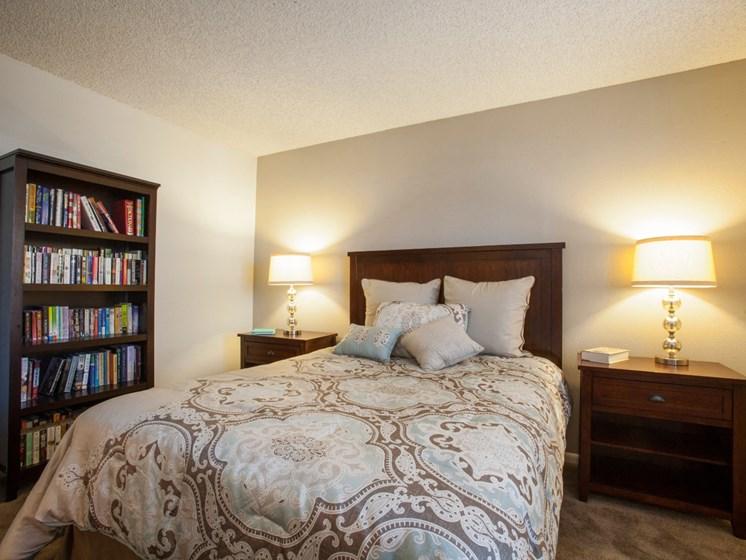 Bedroom at Saguaro Villas Apartments in Tucson, AZ
