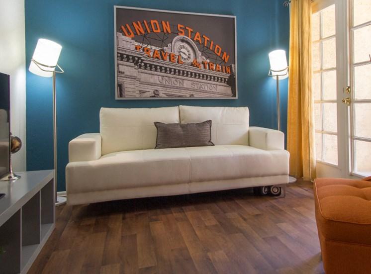 Living Room at Zona Rio Apartments in Tucson, AZ