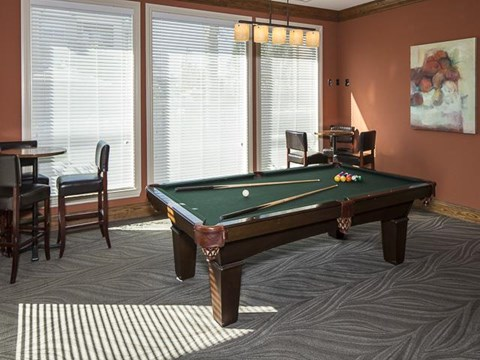 Emerson Park Apartment Homes in Webster, TX Billiards Room