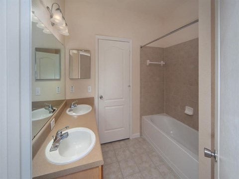Heritage on Millenia Apartments in Orlando, FL Bathroom with Double Vanity