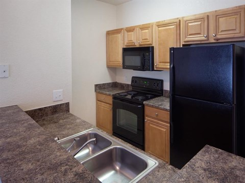 Heritage on Millenia Apartments in Orlando, FL Black Appliances