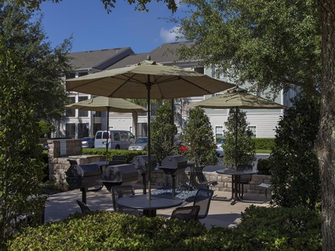 Heritage on Millenia Apartments in Orlando, FL Grilling and Picnic Area