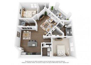 The Ellis Apartments |B4G Floor Plan  2 Bedroom 2 Bath