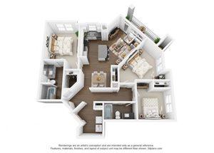 The Ellis Apartments | C1g Floor Plan 3 Bedroom 2 Bath