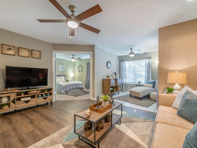 The Summit at Metrowest | Elegant Living Spaces with Multi-speed Ceiling Fans and Lighting