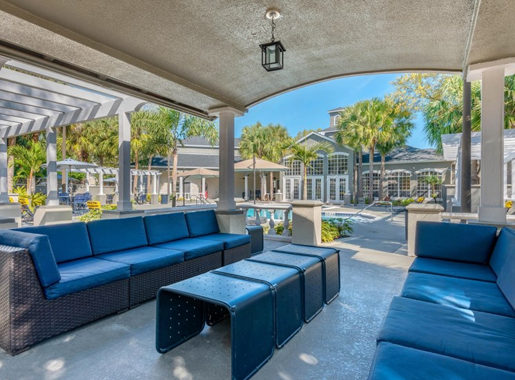 The Summit at Metrowest | Poolside Covered Gazebo & Relaxation Area