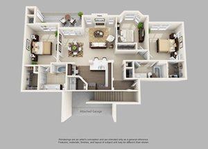 Talon Hill Apartments| The Northgate Floor Plan 2 Bedroom 2 Bath