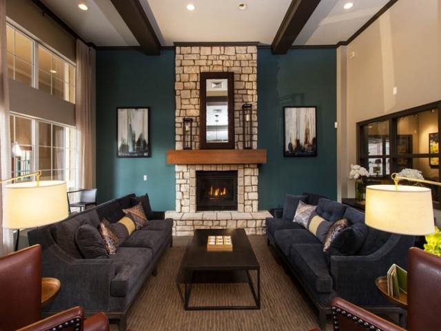 Legacy Heights Clubhouse with Fireplace