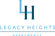 Legacy Heights dark and light blue logo