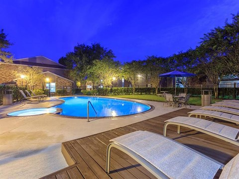 The Hunt Club at Pin Oak Apartments Katy, TX Swimming Pool and Spa
